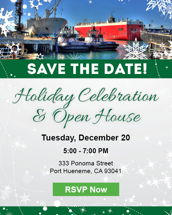 Save the date! The Port of Hueneme Holiday Celebration and Open House. Tuesday, <a href=